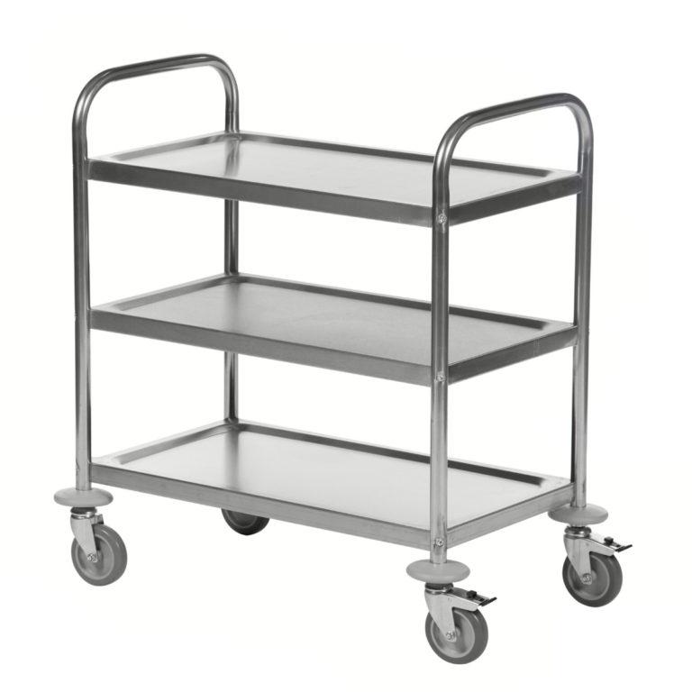 Wózek ze stali nierdzewnej 3 półkowy